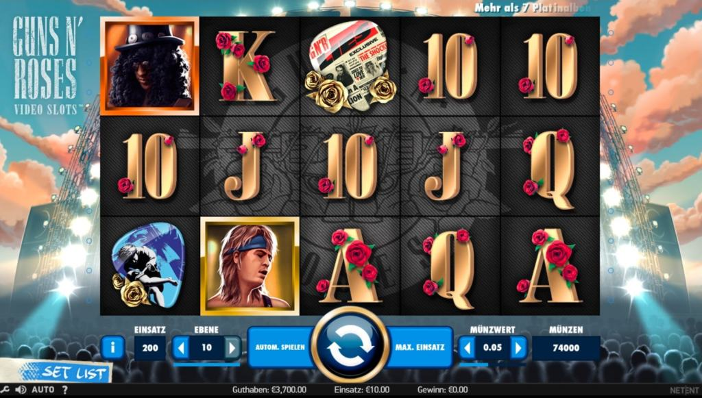 Guns N Roses Netent Casino Spielübersicht