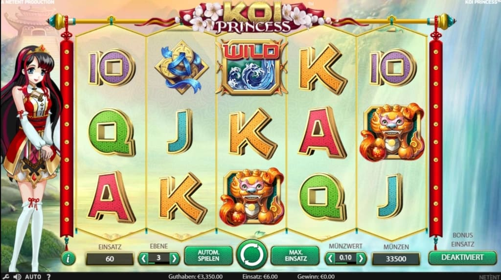Koi Princess Netent Casino Spielübersicht
