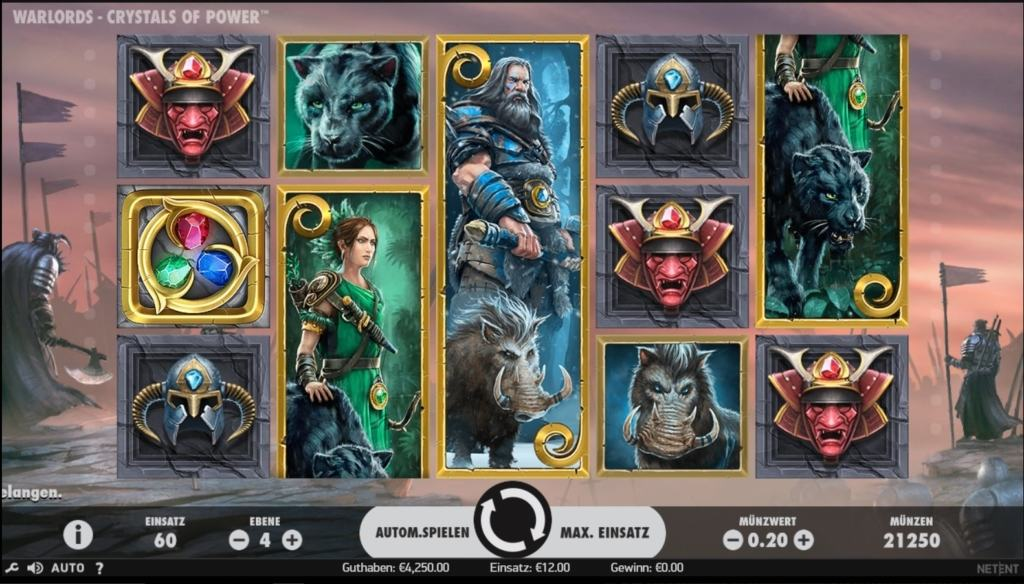 netent casino Warlords Crystals of Power spielübersicht