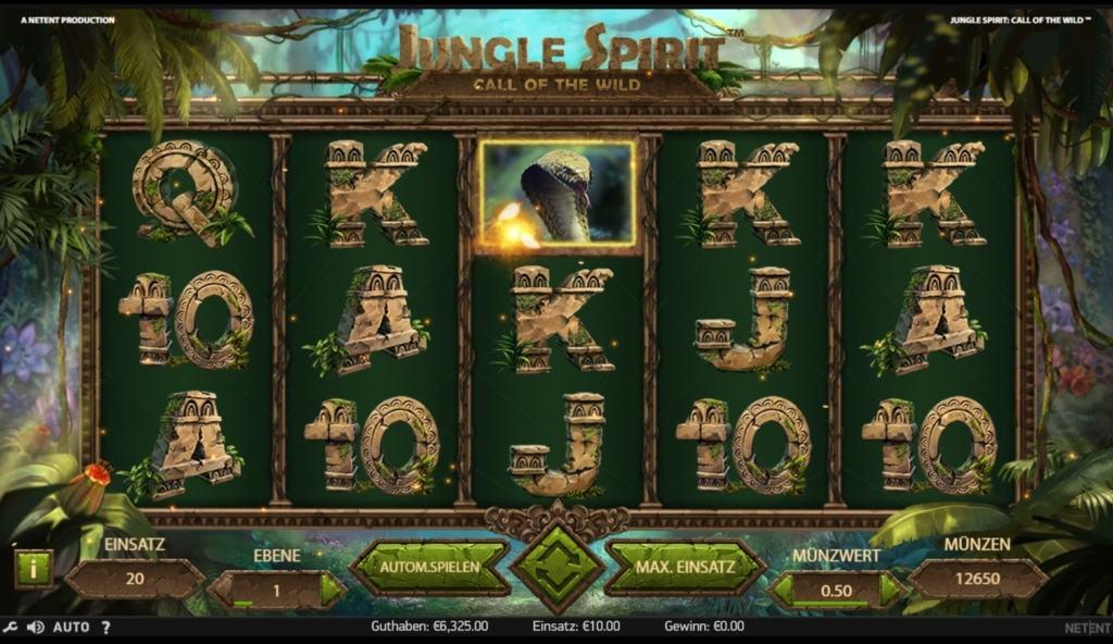 Netent Casino Jungle Spirit: Call of the Wild Übersicht vom Spielverlauf