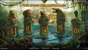 Netent Casino Jungle Spirit: Call of the Wild Freispiele wählen