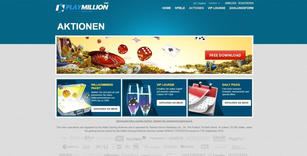 PlayMillion Netent Casino Bonusangebote