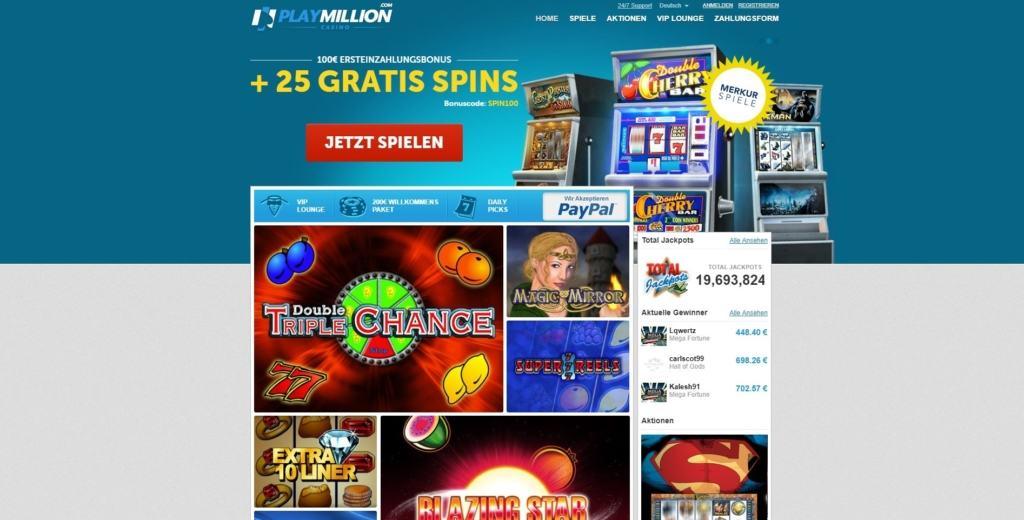 PlayMillion Netent Casino Startseite