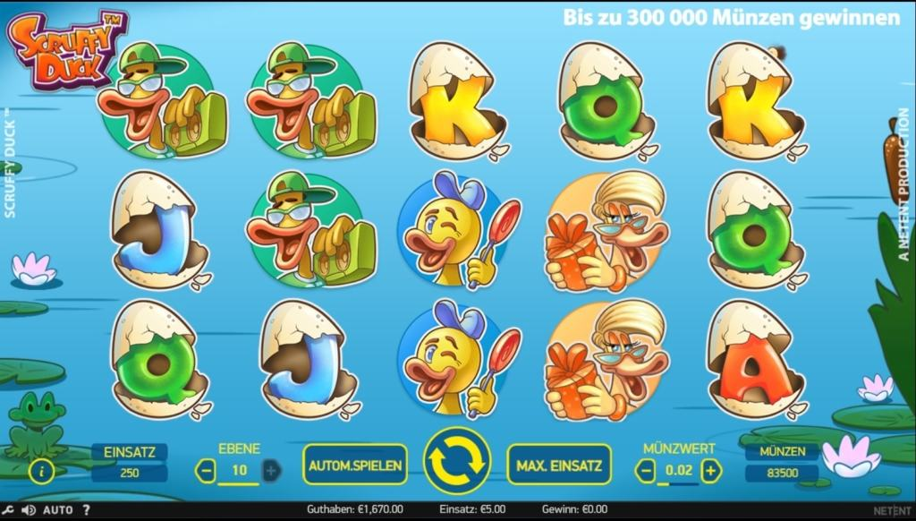 netent casino scruffy duck spielübersicht