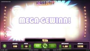 Netent Casino Starburst Mega Gewinn