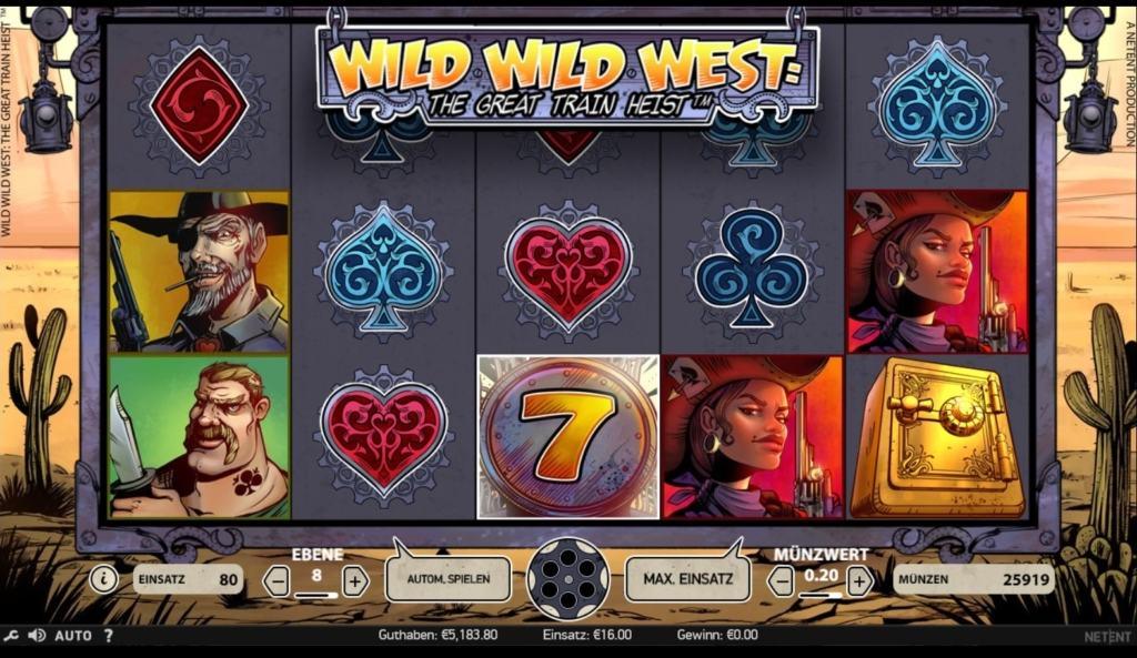 netent casino Wild Wild West The Great Train Heist spielübersicht