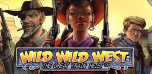 netent slot wild wild west great train heist logo