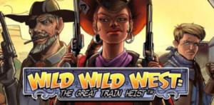 netent slot wild wild west great train heist logo