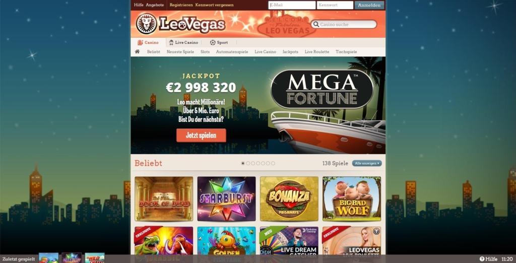 Leovegas Netent Casino Übersicht