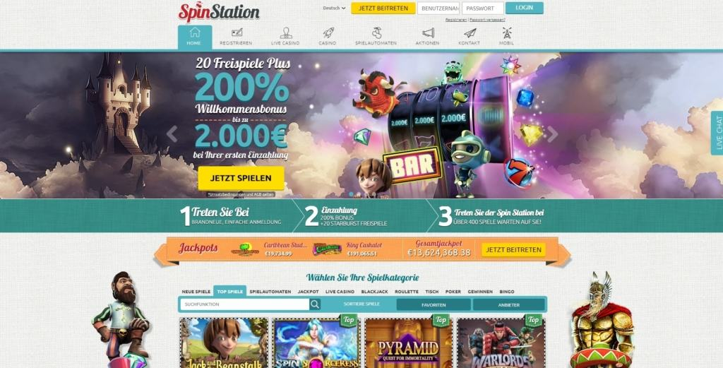 SpinStation Netent Casino Startseite