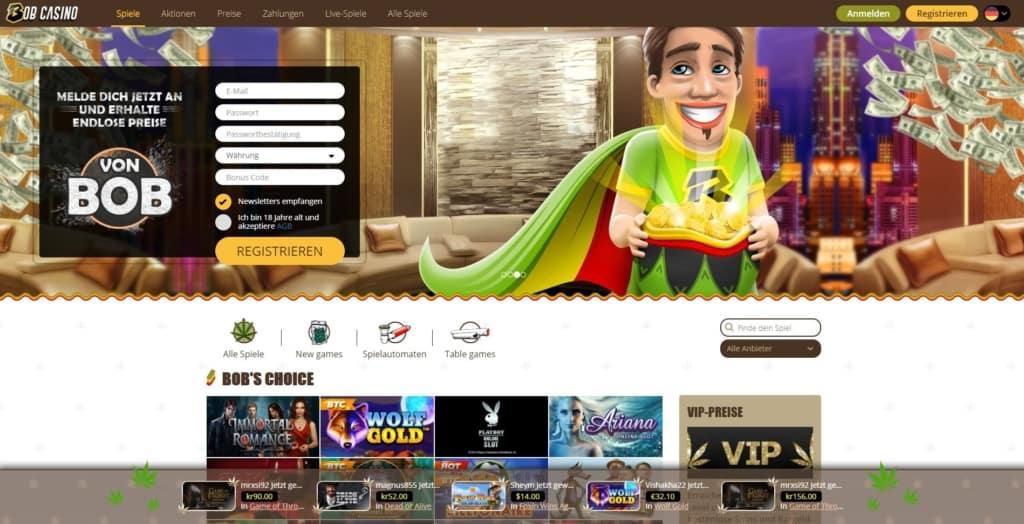 Bob Netent Casino Startseite
