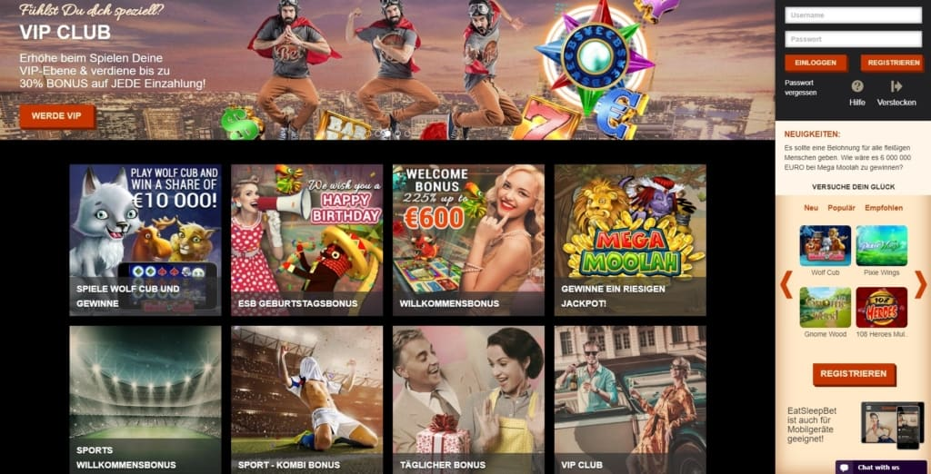Eat Sleep Bet Netent Casino Bonusangebote