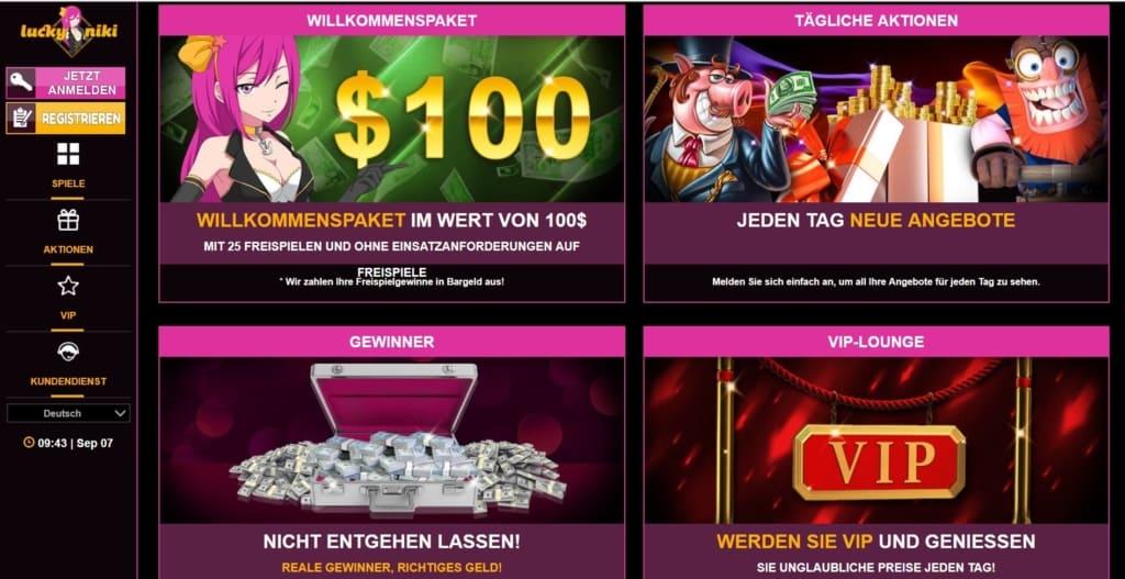 LuckyNiki Netent Casino Bonuskalender