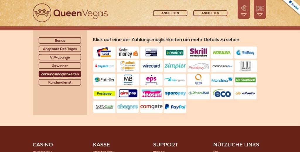 QueenVegas Netent Casino Zahlungsmöglichkeiten