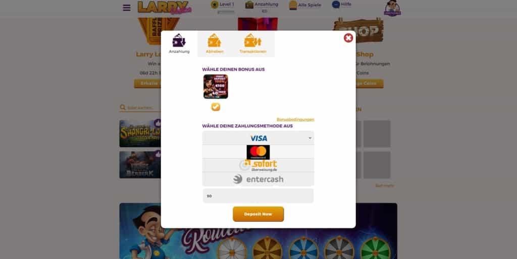 Larry Netent Casino Zahlungsanbieter