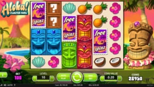 Netent Casino Aloha Cluster Pays Bonus