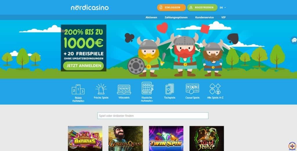 Nordi Online Casino Startseite