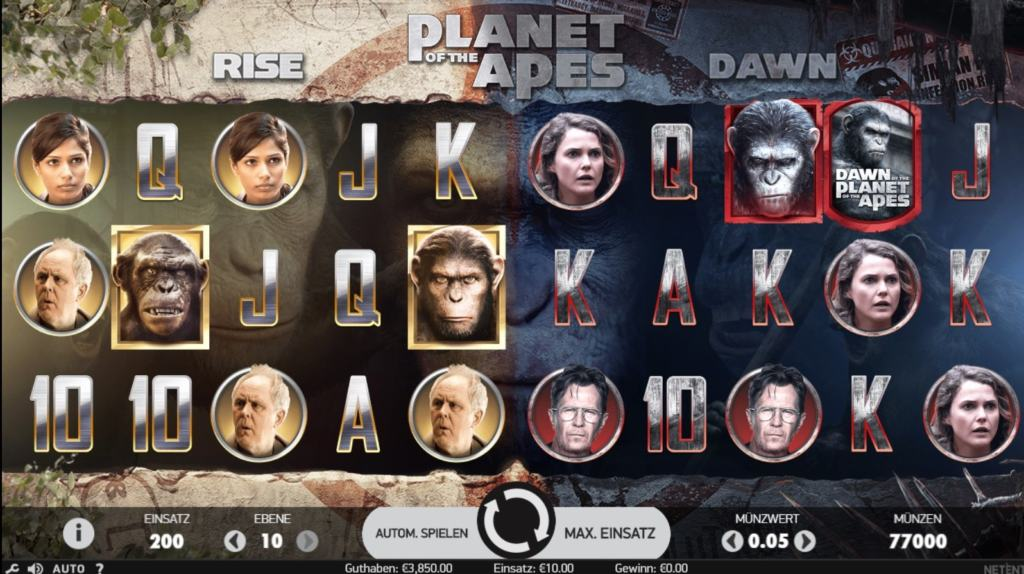 planet of the apes netent casino spielübersicht
