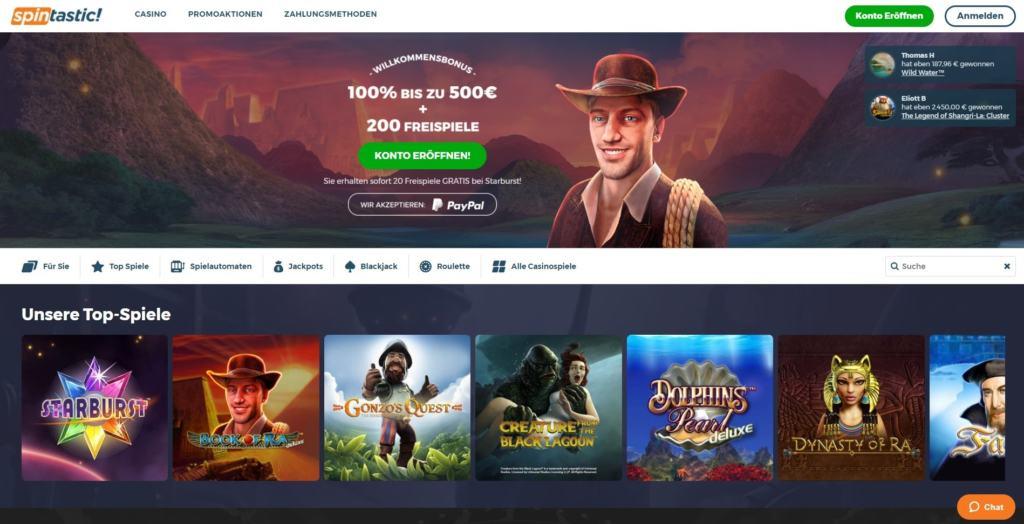 Spintastic Netent Casino Startseite