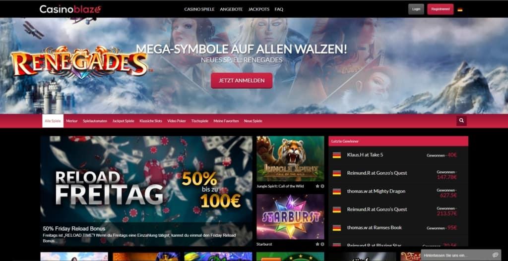 Blaze Netent Casino Startseite