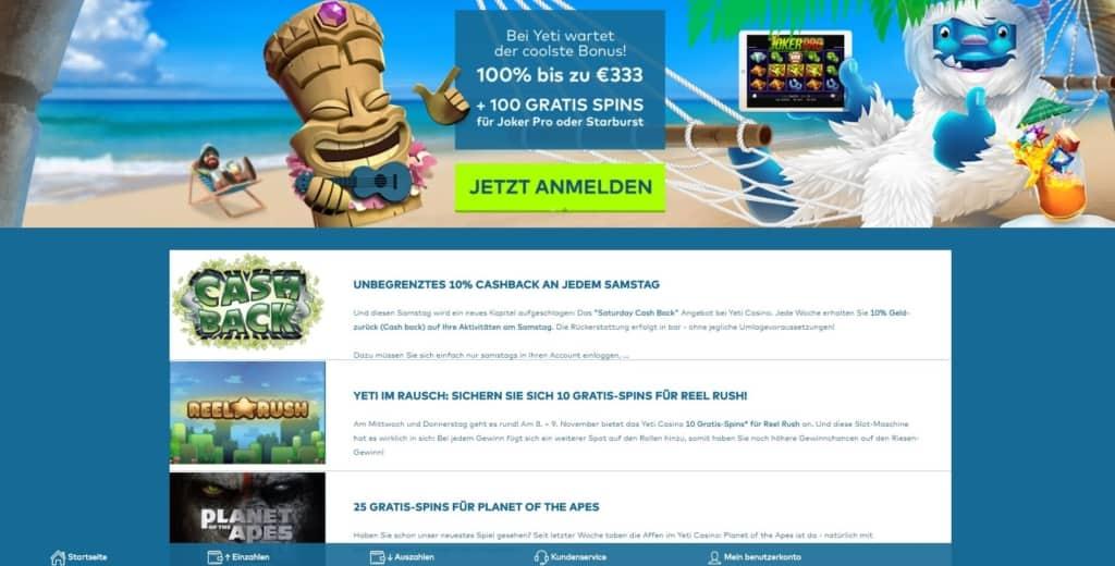 Yeti Netent Casino Bonusangebote