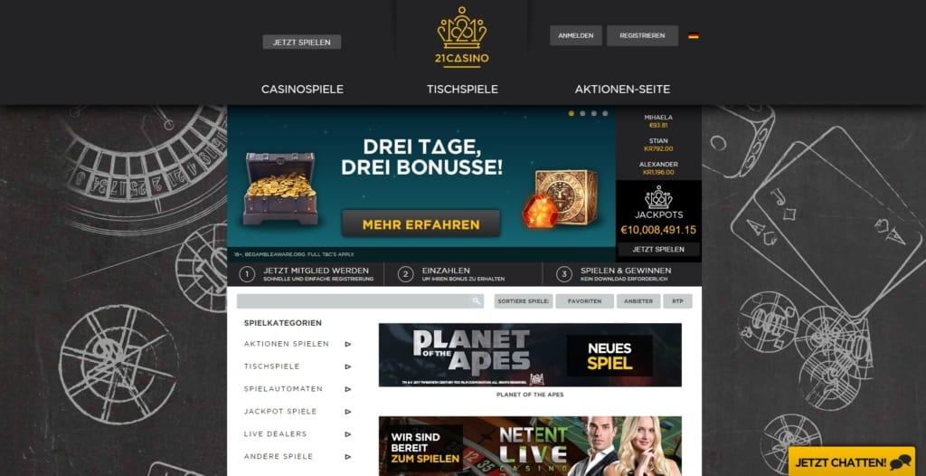 21 Casino Startseite