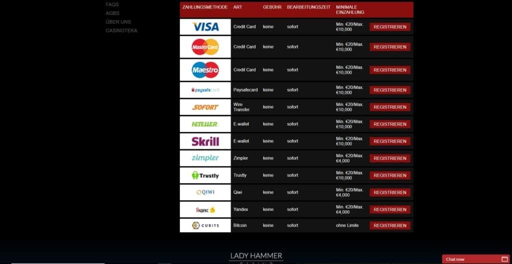 Ladyhammer Netent Casino Zahlungsanbieter
