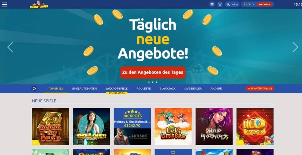 LuckyLouis Netent Casino Startseite