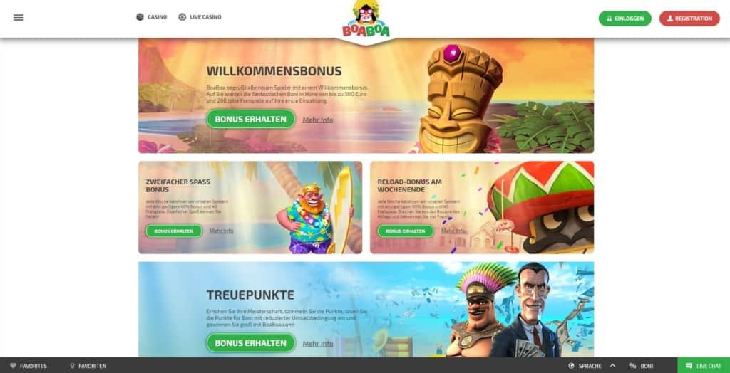 BoaBoa Netent Casino Bonus