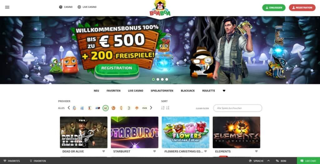 BoaBoa Netent Casino Startseite