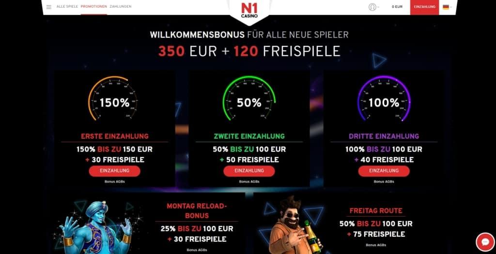 N1 Netent Casino Bonuskalender