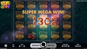 Fruit Spin Netent Online Casino Super Mega Gewinn