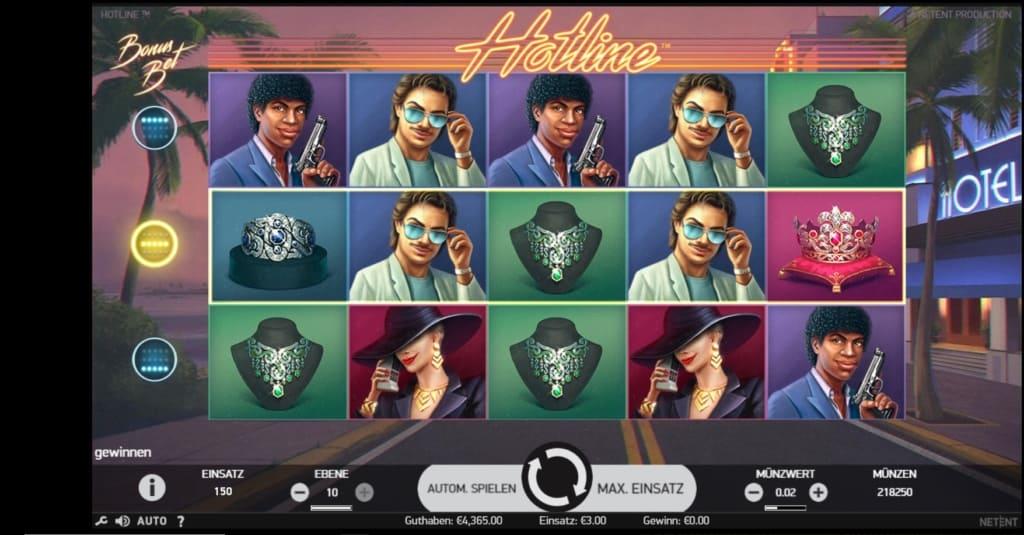 Hotline Netent Casino Spielübersicht