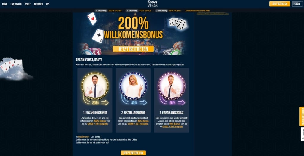 Dream Vegas Netent Casino Online Bonus