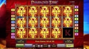 Pharaohs Tomb Freispiel Gewinn