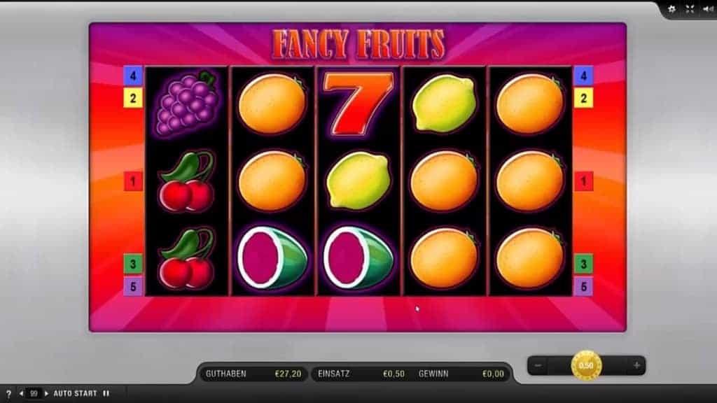 Gamomat Casino Spiele Liste Fancy Fruits Vorschau