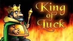 king of luck online slot logo