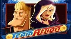 team action casino slot logo