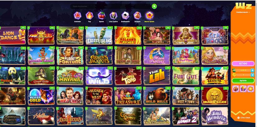 Wazamba Casino Startseite