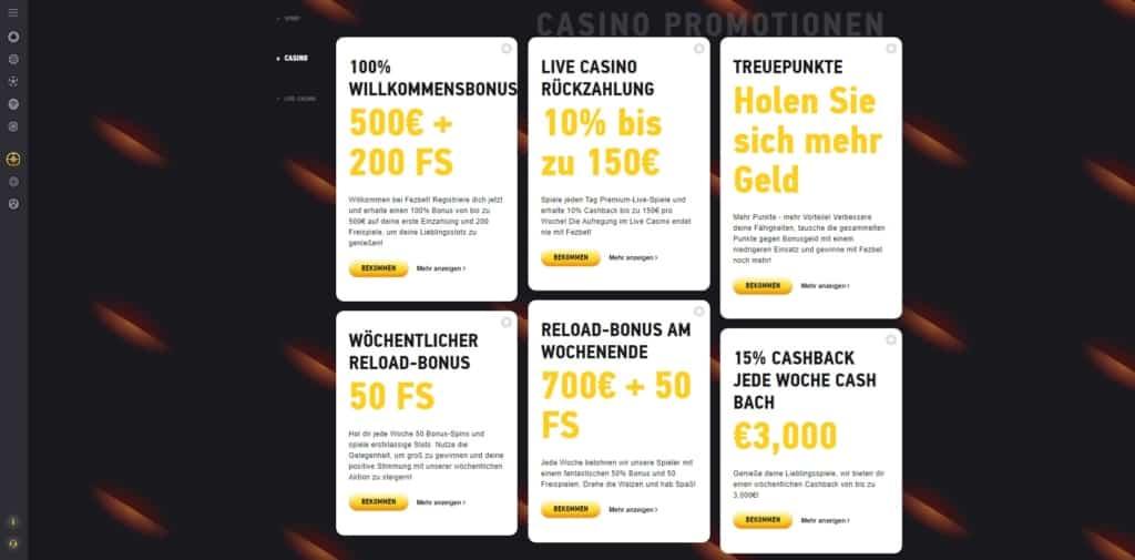 FEZbet Casino Bonus Ãœbersicht