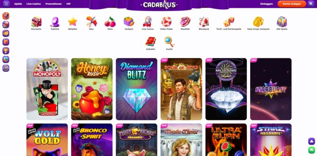 Cadabrus Casino Startseite
