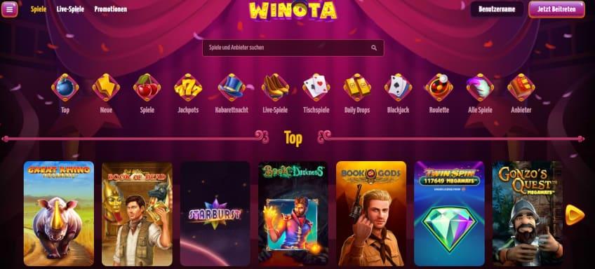 Highroller Casino ohne Limit  - Winota Spielothek