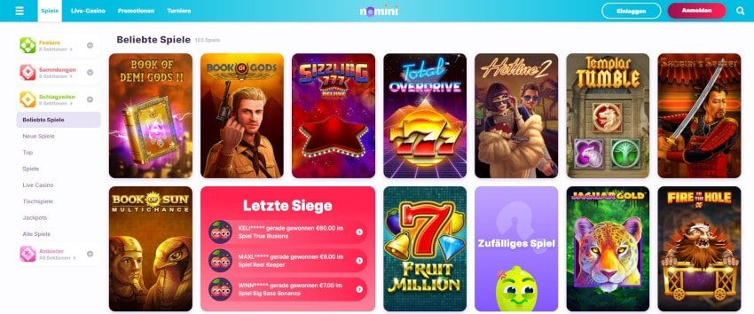 Nomini Crypto Casino Start